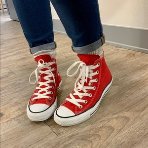 Red High Top Converse size M5/W7